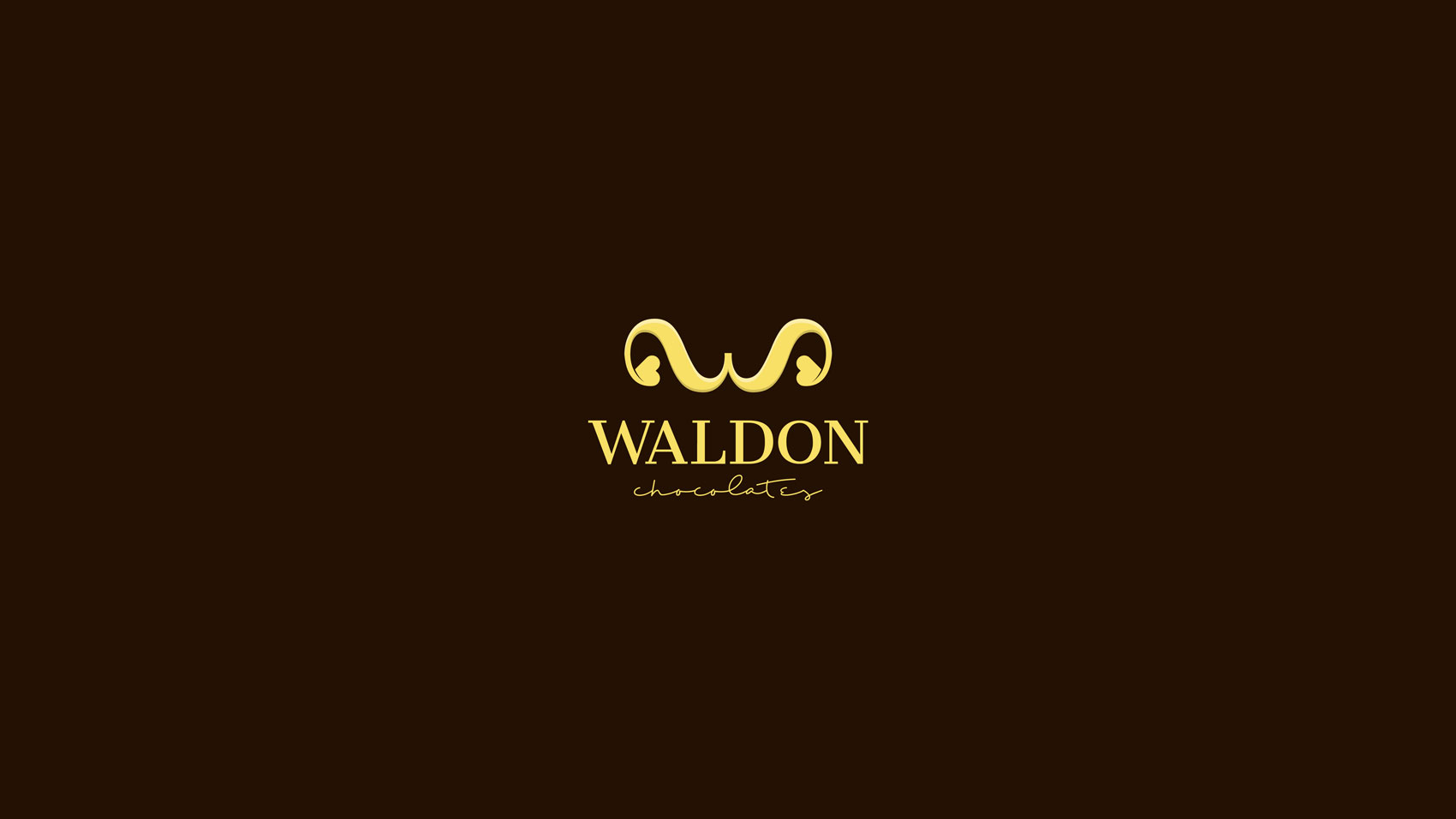 Waldo chocolates logo design
