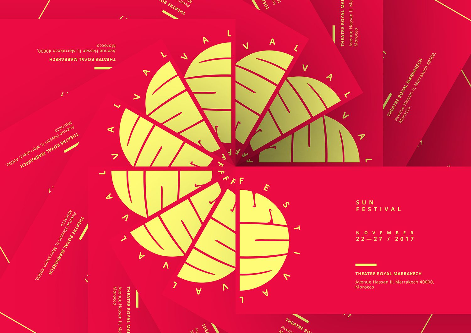 Sun Festival Ticket design London